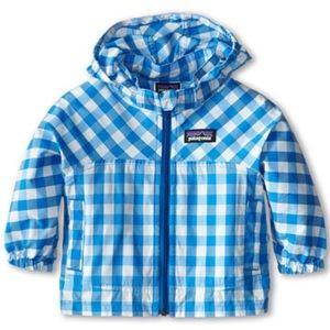 Patagonia gingham jacket blue white size 2T
